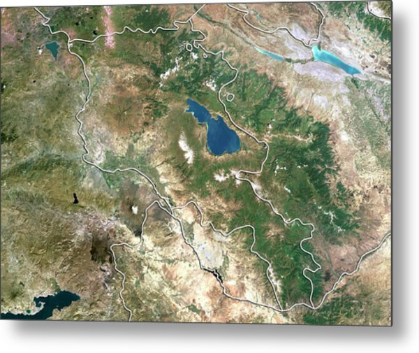 Armenia Metal Print by Planetobserver/science Photo Library