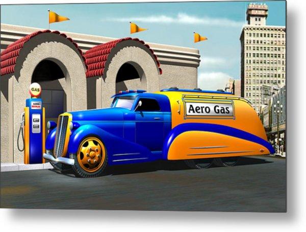 Art Deco Gas Truck Metal Print