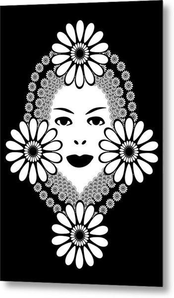 Art Nouveau Woman Metal Print