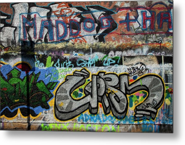 Artistic Graffiti On The U2 Wall Metal Print