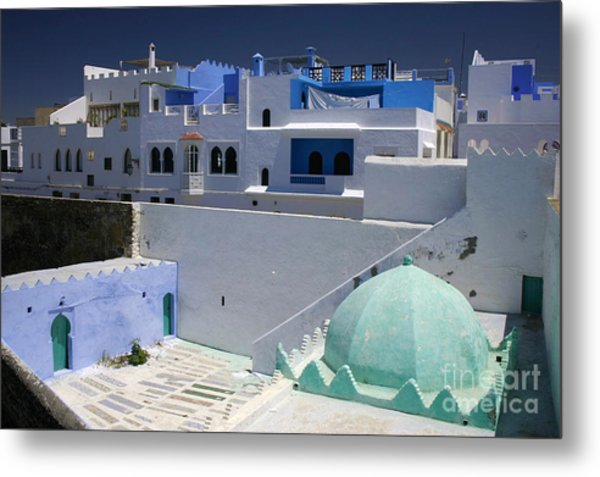 Asilah Meaning Authentic In Arabic Fortified Town On Northwest Tip Of Atlantic Coast Of Morocco Metal Print by PIXELS  XPOSED Ralph A Ledergerber Photography