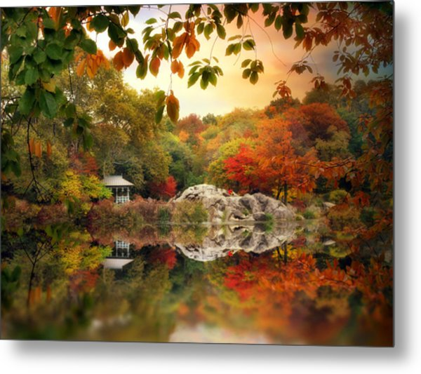 Autumn At Hernshead Metal Print