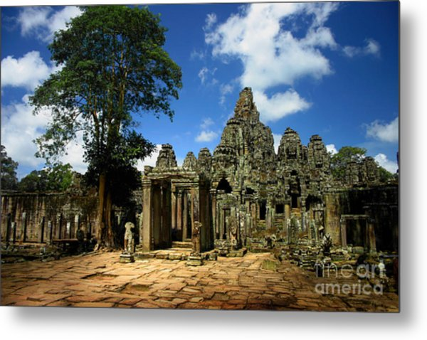 Bayon Temple View From The East Metal Print