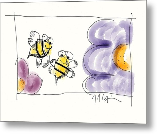 2 Bee Or Not To Bee Metal Print