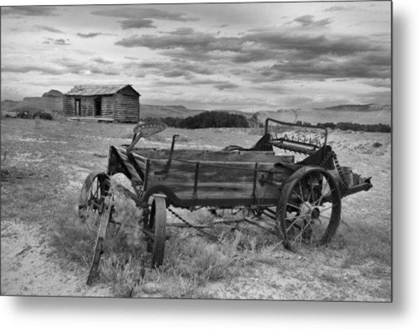 Bighorn Basin History Metal Print by Leland D Howard