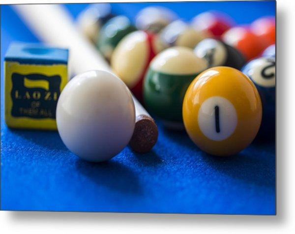 Billiard Balls Metal Print