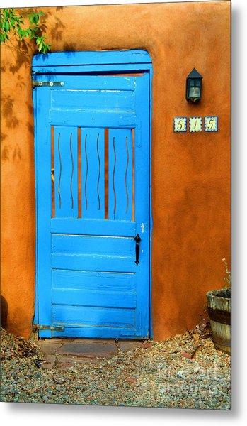 Blue Door In Santa Fe Metal Print
