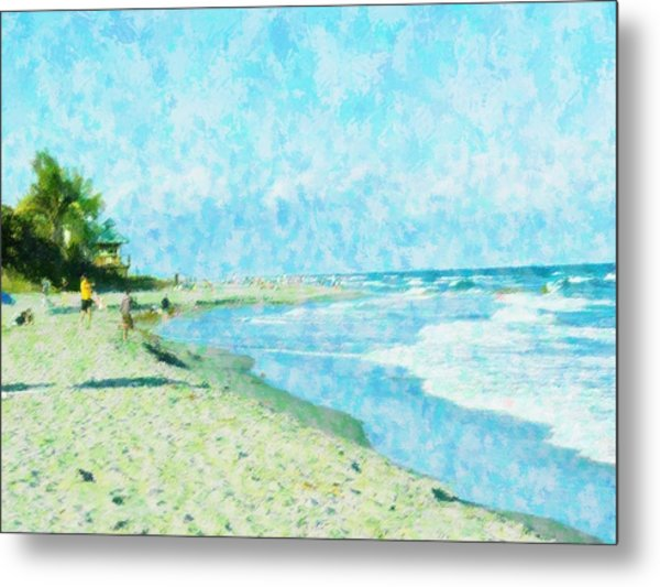 Boca Beach Play Metal Print