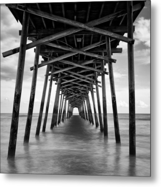 Bogue Inlet Fishing Pier #2 Metal Print
