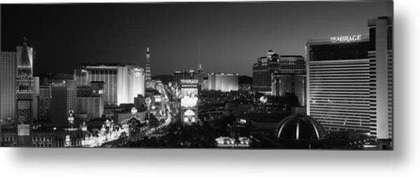 Buildings Lit Up At Night, Las Vegas Metal Print