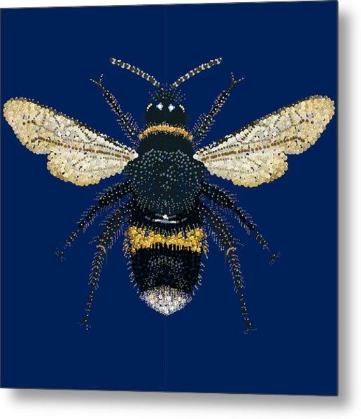 Bumblebee Bedazzled Metal Print