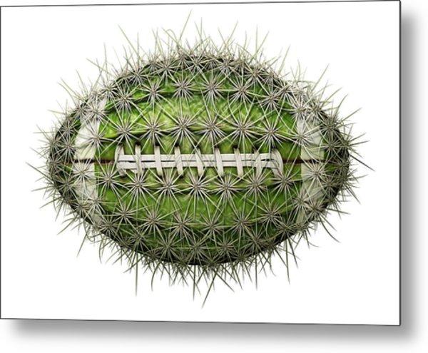 Cactus Football Metal Print