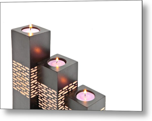 Candle Holders Metal Print