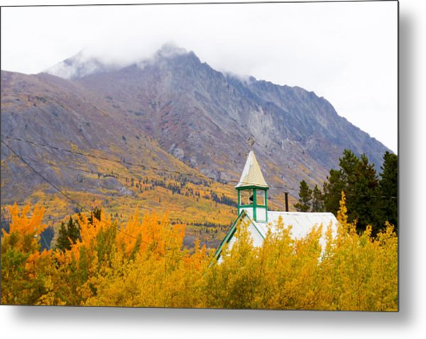 Carcross Church Metal Print