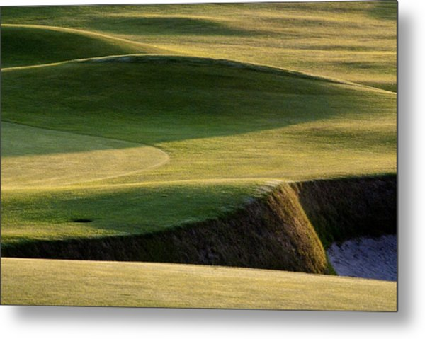 Carnoustie Shadows Scotland Metal Print