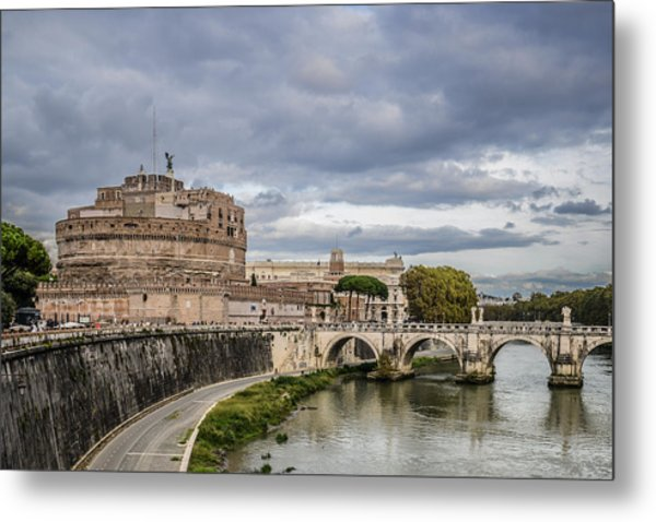 Castle St Angelo In Rome Italy Metal Print