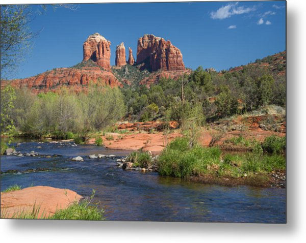 Cathedral Rock Viewed From Red Rock Crossing Metal Print