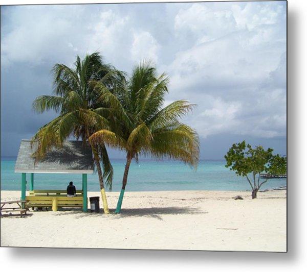 Cayman Beach Metal Print by Robert Teeling
