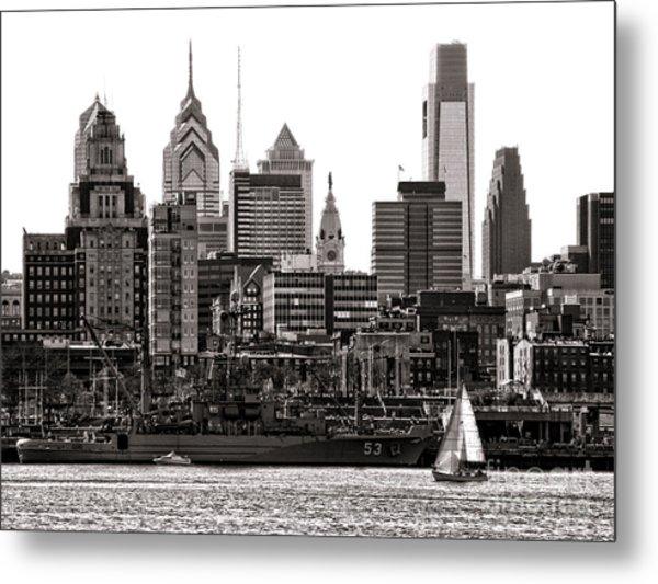 Metal Print featuring the photograph Center City Philadelphia by Olivier Le Queinec