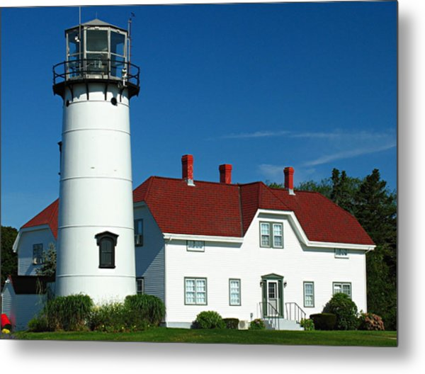 Chatham Lighthouse Metal Print by Juergen Roth