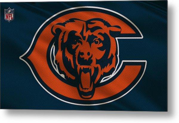 Chicago Bears Uniform Metal Print