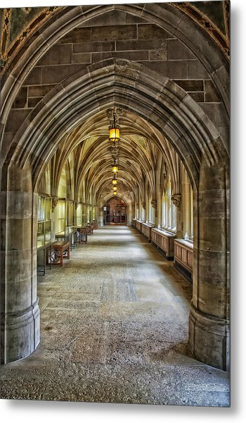 Cloister Hallway Inside Sterling Memorial Library - Yale University Metal Print