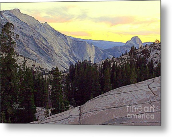 Cloud's Rest And Half Dome Metal Print