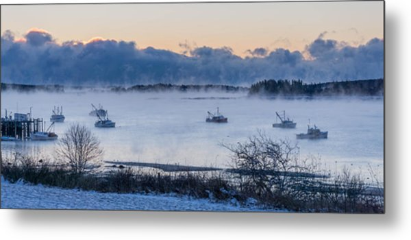 Cold Day Down East Maine Metal Print
