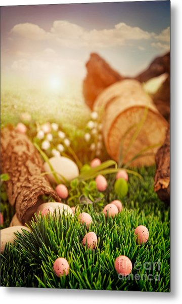 Colorful Easter  Metal Print by Mythja  Photography