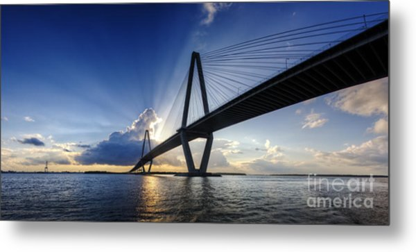 Cooper River Bridge Charleston Sc Metal Print