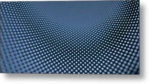 Curved Dot Pattern Metal Print by Ralf Hiemisch