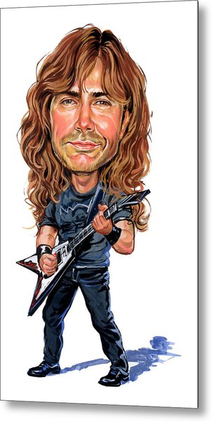 Dave Mustaine Metal Print by Art