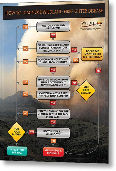 Diagnosing Wildland Firefighter Disease Metal Print