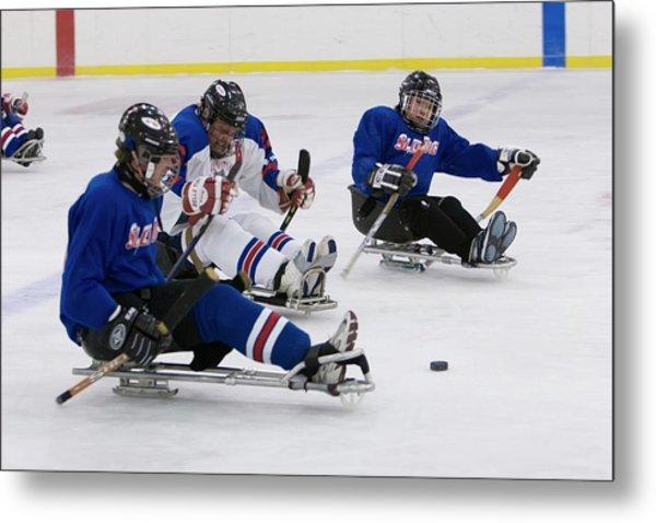Disabled Ice Hockey Metal Print