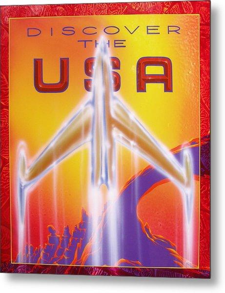 Discover The Usa Metal Print