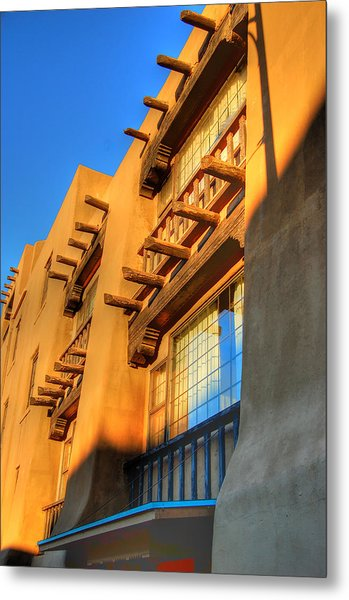 Downtown Santa Fe Metal Print