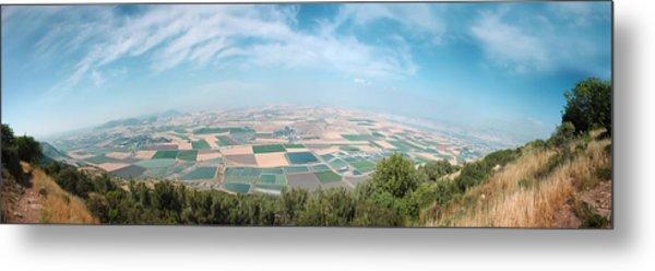 Emek Yizrael Panorama Metal Print