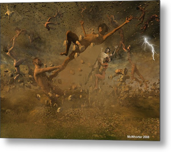 Eternally Rooted -turbulence Metal Print by Williem McWhorter