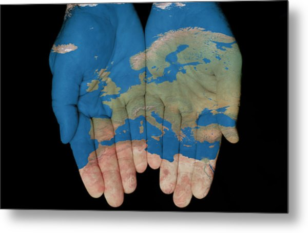 Europe In Our Hands Metal Print