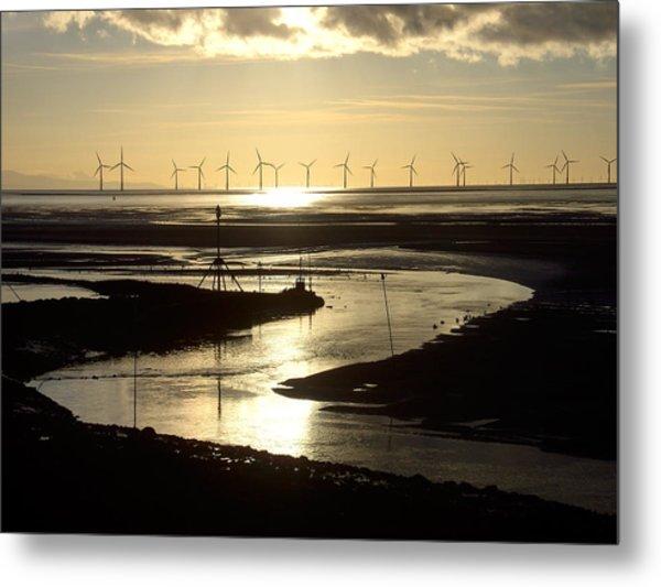 Evening Low Tide  Metal Print