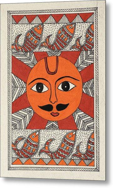 Festive Sun Metal Print by Neha Dasgupta
