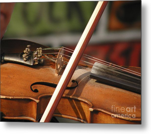 Fiddle Time Metal Print