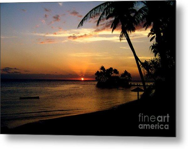 Fijian Sunset Metal Print