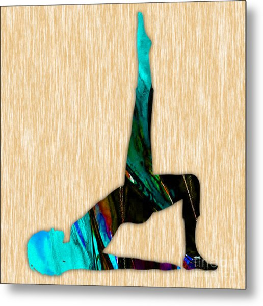 Fitness Yoga Metal Print