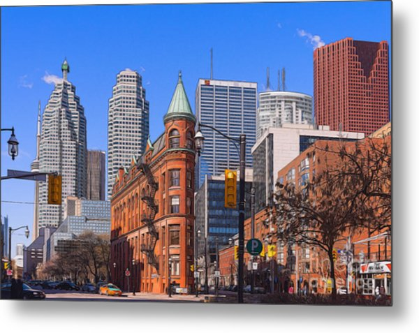 Flatiron Building In Toronto Metal Print