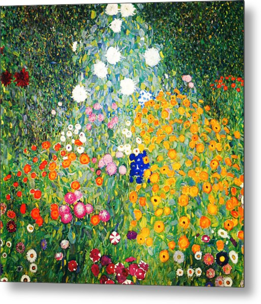 Metal Print featuring the painting Flower Garden by Gustav Klimt