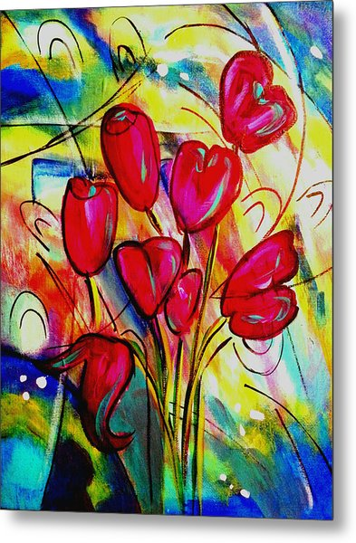Flowers For M Metal Print