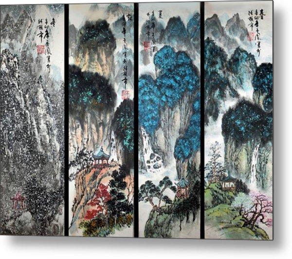 Four Seasons In Harmony Metal Print