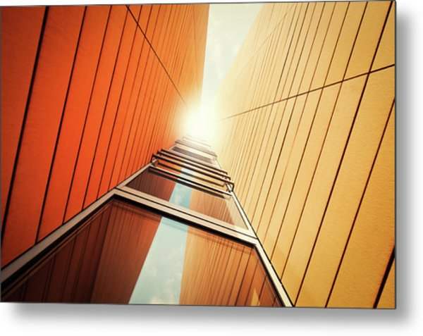 Futuristic Office Building Metal Print by Ppampicture