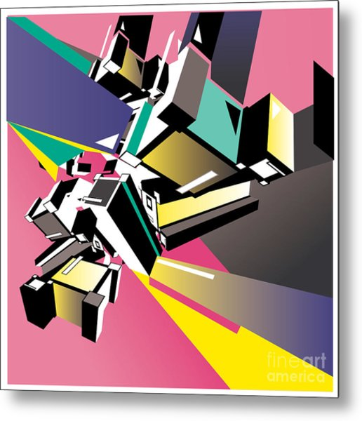 Geometric Colorful Design Abstract Metal Print by Singpentinkhappy